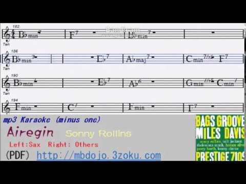 Airegin -- Sonny Rollins Sax Karaoke