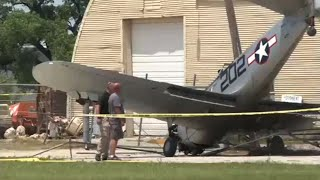 Raw: WWII Plane Crash After Memorial Day Flyover