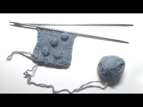 Схема вязания узора спицами шишечки