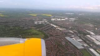 Thomas cook a321 landing at Birmingham airport
