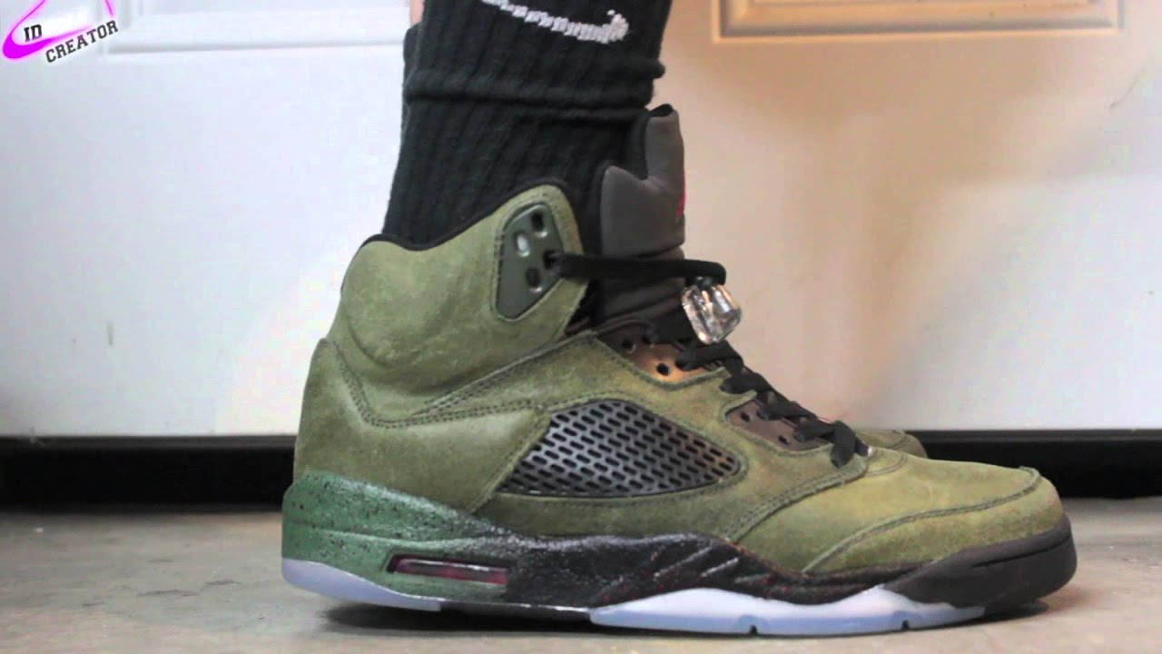 4efb204e424dcf Nike Air Jordan Retro 5 Fear Pack ON FEET! - YouTube