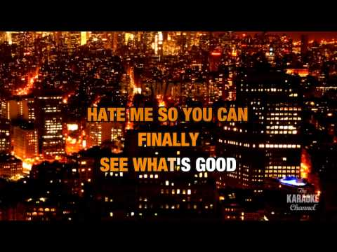 Hate Me in the style of Blue October | Karaoke with Lyrics