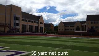 ryan anderson   university of st thomas   punting video   sophomore