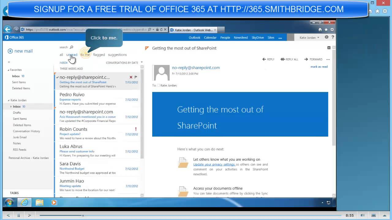 New Office 365 For 2013 Outlook Web Accessmp4 Youtube