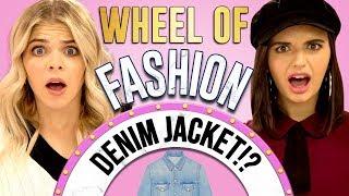 DENIM JACKET CHALLENGE?! Wheel of Fashion w/ Rebecca Black & Griffin Arnlund