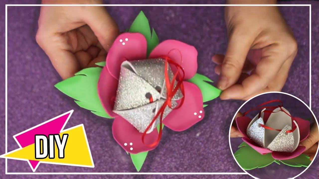 Dulcero San Valentin Porta Bombon Flor Con Goma Eva Dulcero