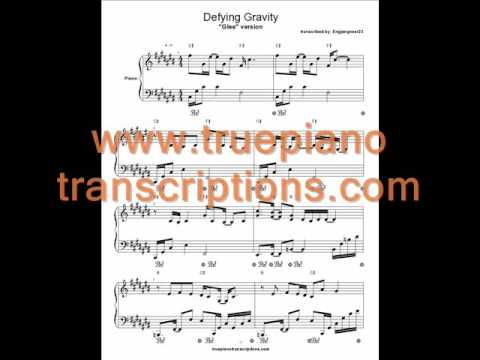 Defying Gravity version from Glee (Piano sheet music and cover)