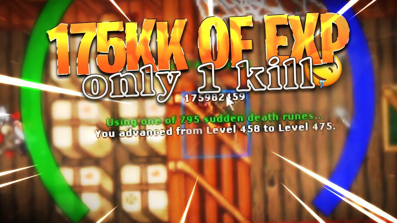 MAKING 175KK OF EXP ON HARDCORE PVP! UP 458 TO LEVEL 475! - Tibia Best Clips #TibiaFerumbrinha🧙