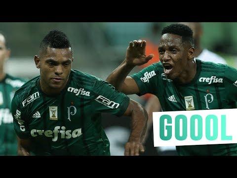 Gol de Borja - Palmeiras 1 x 0 Atlético-GO - Brasileirão 2017