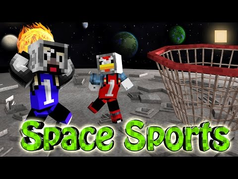 Minecraft | SPACE BASKETBALL CHALLENGE - Space vs Basketball! (Sports Mod)