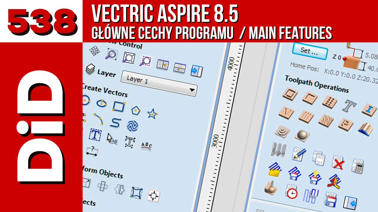 538  Vectric Aspire 8 5 - Main features