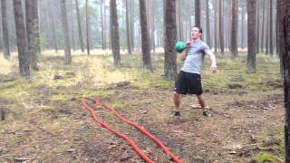 Battle Ropes and Kettlebell workout