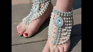 Latest Anklet payal design trends set#star fashion jewellery#