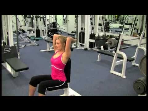 OVERHEAD DUMBELL TRICEP EXTENSION With Workout Johnny's TrainerApproved.com