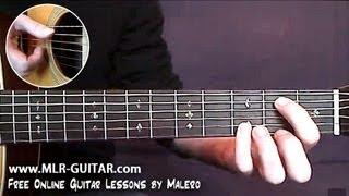 """Comment jouer """"Blackbird"""" à la Guitare - cours N°1"""