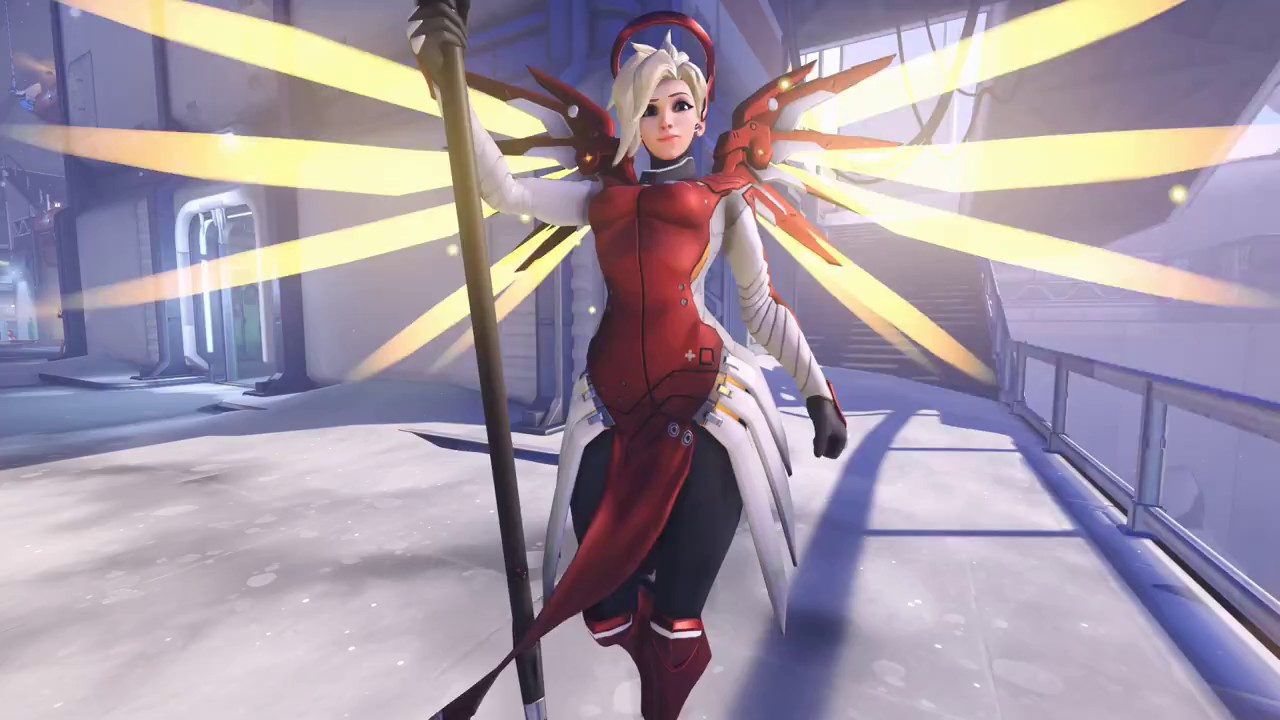 Overwatch Summer Games Mercy | Eidgenossin Skin (Epic) - YouTube