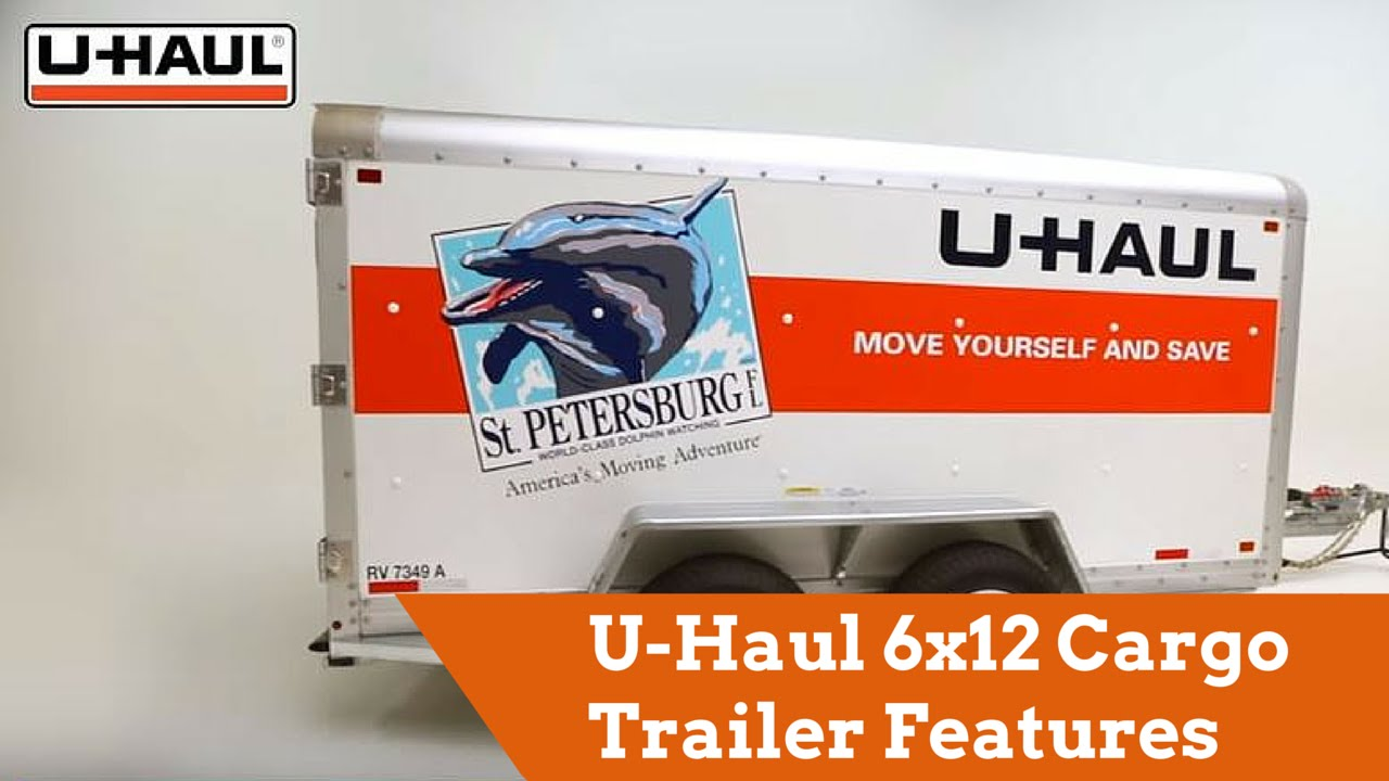 9f92bf43b5 U-Haul 6x12 Cargo Trailer Features - YouTube