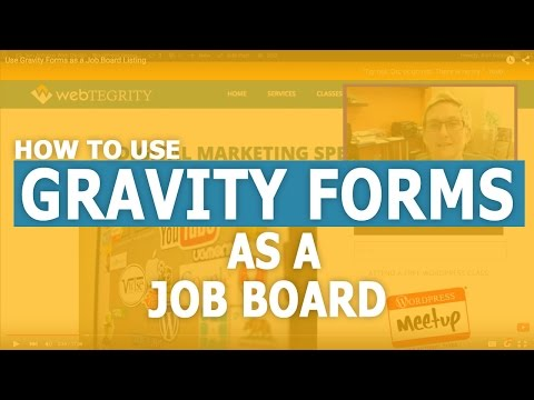 Use Gravity Forms as a Job Board Listing