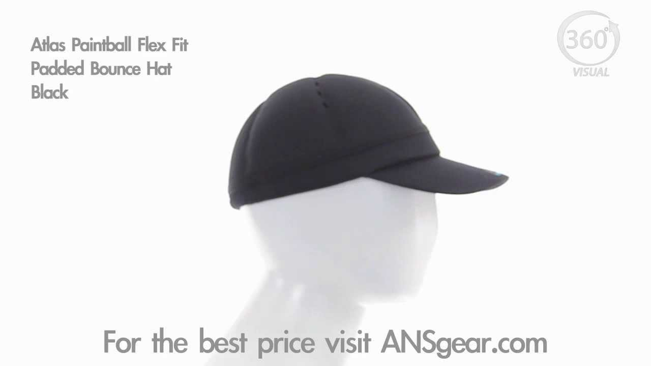 Atlas Paintball Flex Fit Padded Bounce Hat - Black - Visual 360 ... d262cd43afca