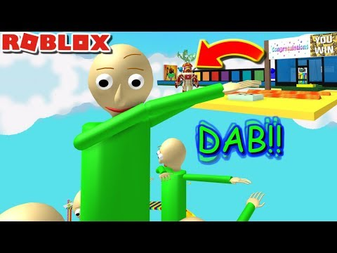 Escape Giant Dabbing Baldi Obby The Weird Side Of Roblox