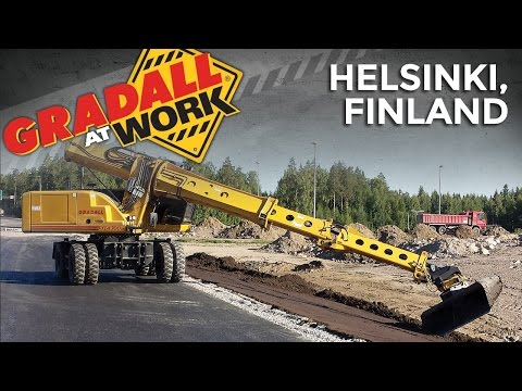 Gradall At Work: Helsinki, Finland