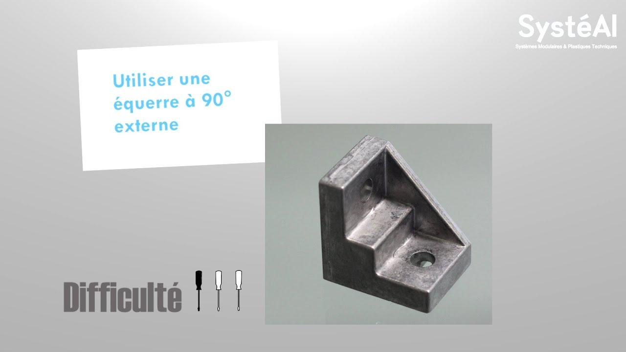 fixation de deux profil 233 s aluminium par 233 querre externe syst 233 al