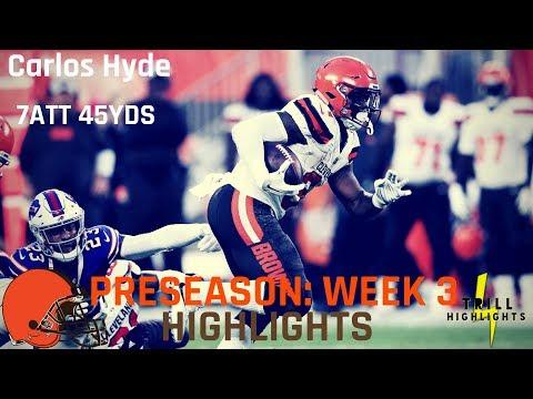 Carlos Hyde Preseason Week 3 Highlights | Lead Back 08.23.2018