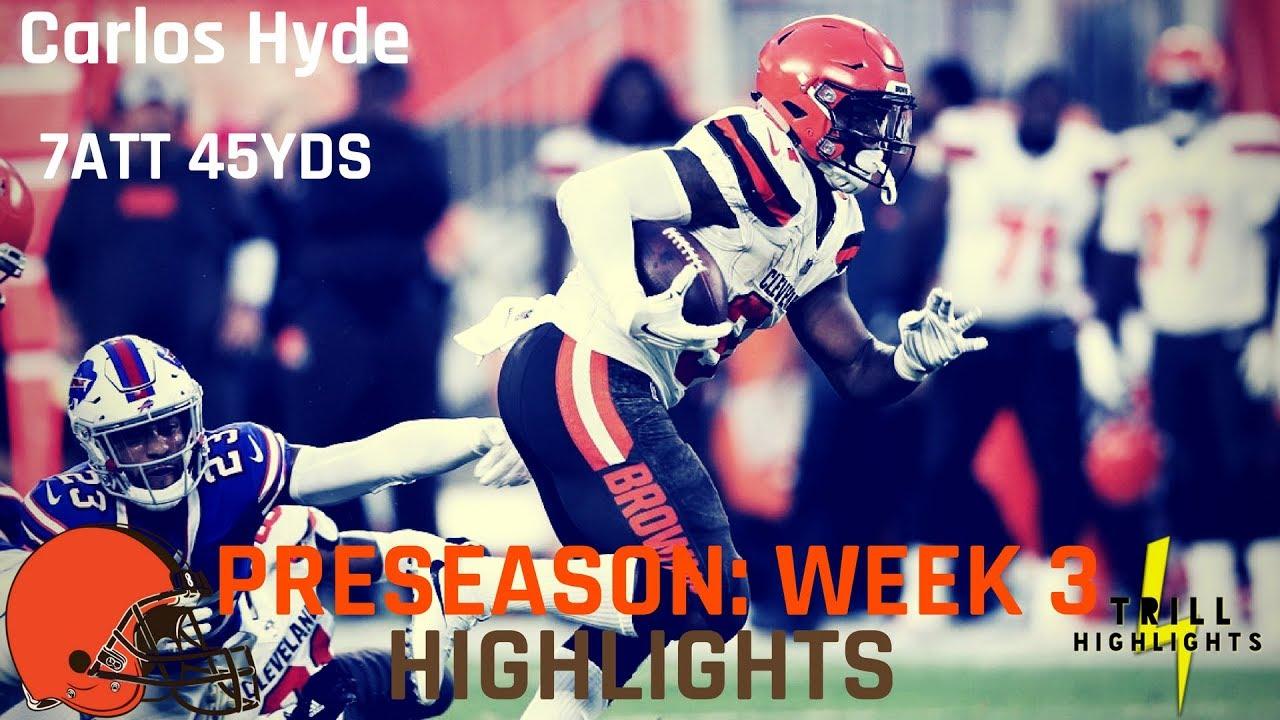 Carlos Hyde Preseason Week 3 Highlights ...