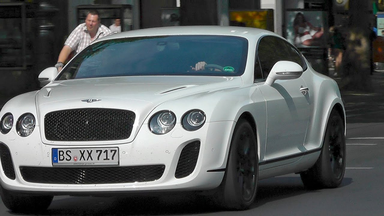 Bentley Continental Gt Supersports Fast Acceleration In The City