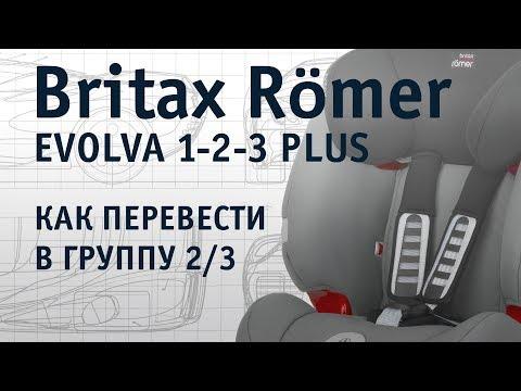 Britax Römer Evolva 1-2-3 Plus | как перевести в группу 2/3 | инструкция Автодети