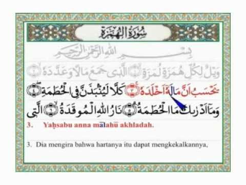Al Humazah Arab Latin Dan Terjemahannya