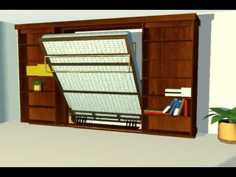 Murphy Bed, Wall Bed, Panel Bed & Library Bed