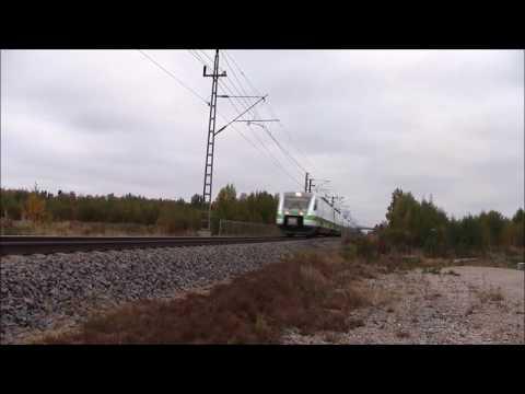 Finnish high speed train Pendolino sm3 passes Oulunportti