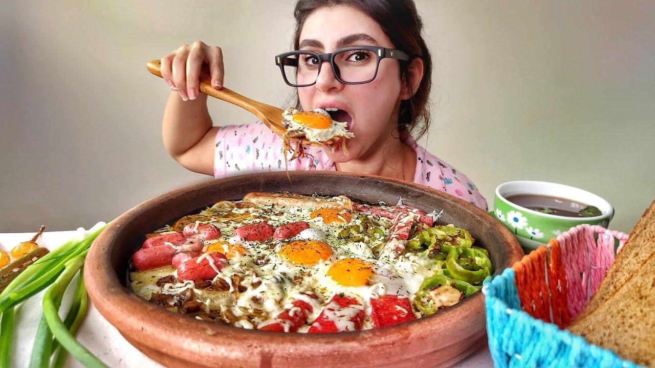 بيض مقلي بالفخار فطوري الصباحي | موكبانغ |