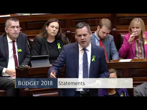 Pearse Doherty - Budget 2018