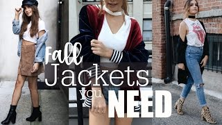 MUST HAVE JACKETS | 4 Outfits to Transition into Fall