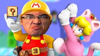 Super Mario Maker FR   CAT PEACH SORT SA BOTTE À TALON!