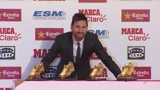 Messi recibe su cuarta Bota de Oro:
