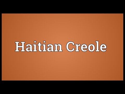 Haitian Creole Meaning