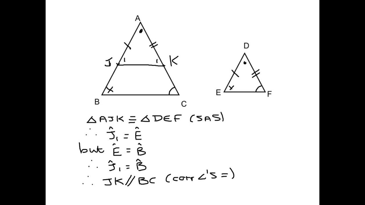Gr12 geometry proof do similar triangle proof - YouTube