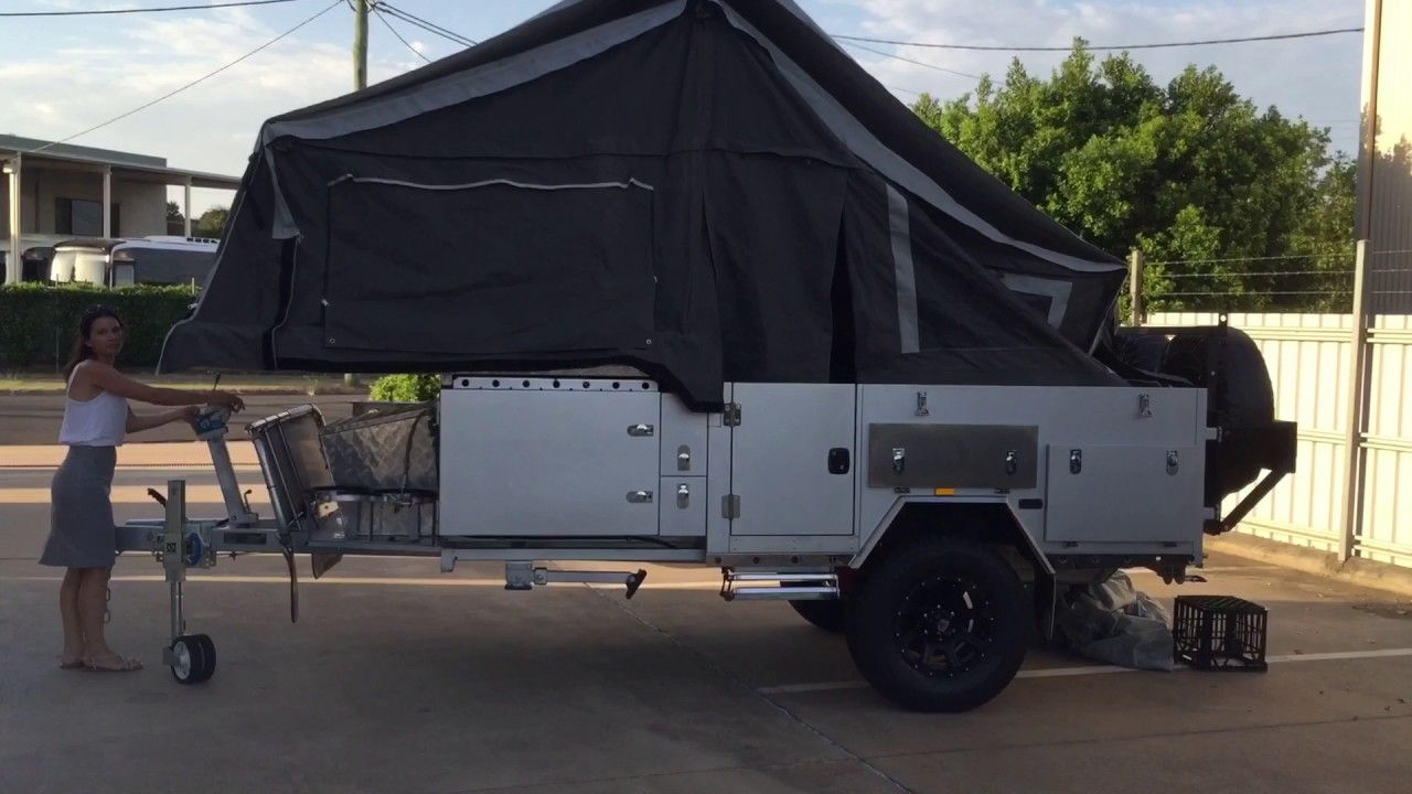 Off Road Forward Fold Camper Trailer Setting Up & Packing Down (mention  video & receive $250 off)