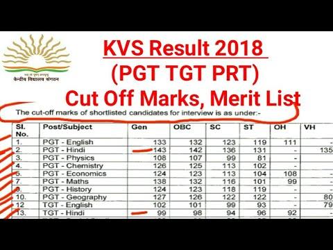KVS Result 2018(PGT