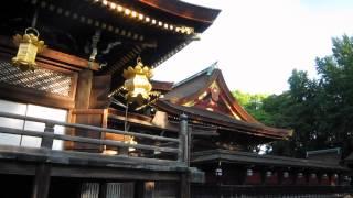 朝5時30分の北野天満宮 京都 梅雨の晴れ間の時 Kyoto Kitano Tenmangu S...