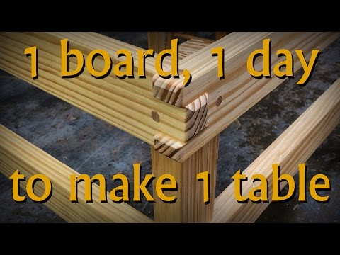 1 Board to Build 1 Table/Bench in 1 Day... Challenge Accepted