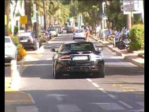 Aston Martin DBS accelerating! Lovely sound!