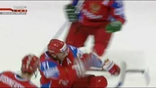 RUSSIA - USA 3:2 █ IIHF World Championship 2009 SEMI FINAL █ ALL GOALS
