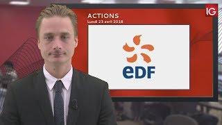 Bourse - Action EDF, dégradée par BNP Paribas - IG 23.04.2018