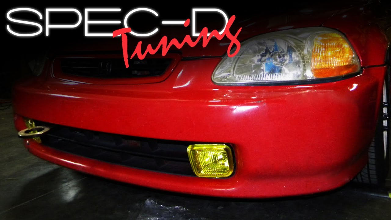 Good SPECDTUNING INSTALLATION VIDEO: 1996 1998 HONDA CIVIC FOG LIGHTS   YouTube