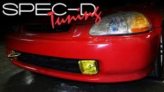 SPECDTUNING INSTALLATION VIDEO: 1996-1998 HONDA CIVIC FOG LIGHTS