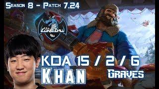 LZ Khan GRAVES vs RENGAR Jungle - Patch 724 KR Ranked